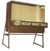 Galvanised Backlit Washout Trough - 1220 x 1220 x 600mm