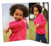 ChromaLuxe Photo Panels - Hinged Flat Tops - 130 x 180mm - Center