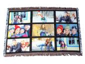 Sublimatable Throw Blanket with Nine Printable Panels -